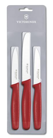 Набор Victorinox кухонный, 3 предмета, красный