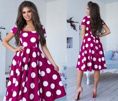 Платье в горох Модель 1109-4