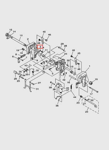 Провод  для лодочного мотора T15, OTH 9,9 SEA-PRO (13-3)