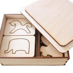 Набор Деревянные трафареты, Smile Decor, упаковка