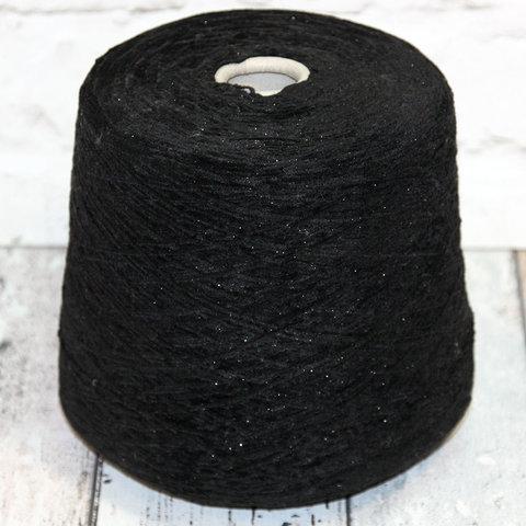 Вискозный велюр FIL PA 1974 600 черный с блеском