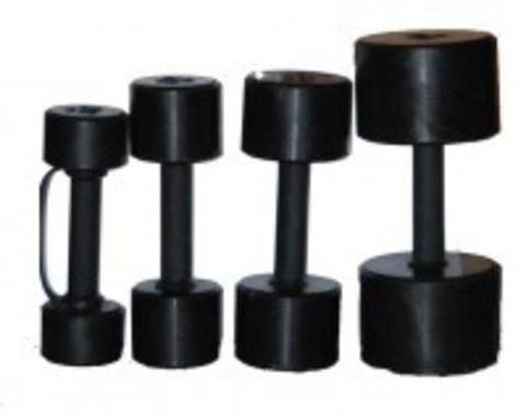Гантельный ряд черные обрезиненные 'фитнесс' от 1 до 10 кг с шагом 1кг