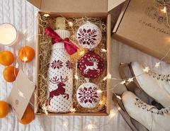 Набор подарочный Luxberry Box бордовый