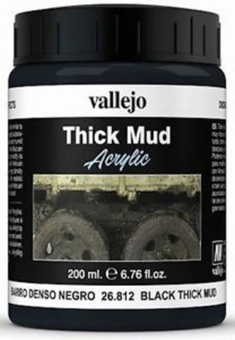 Diorama Effects Black Thick Mud 200 ml.