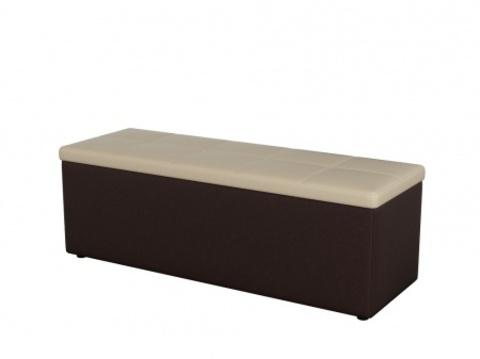 Пуф Orma Soft 2 двухместный Экокожа: коричневый с бежевым