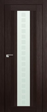 > Экошпон Profil Doors №16X-Модерн, стекло квадро, цвет венге мелинга, остекленная