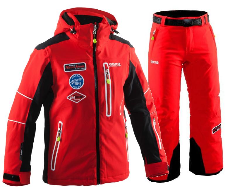 Детский горнолыжный костюм 8848 Altitude Challenge-Track 860803-8610 красный | Интернет-магазин Five-sport.ru
