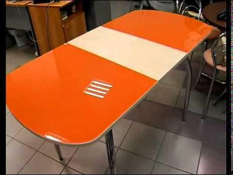 Подстолье бел.дуб/стекло оранжевое