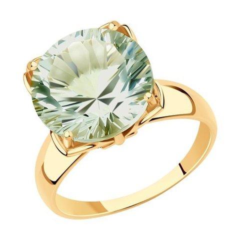714957 -Кольцо из золота с зеленым аметистом от SOKOLOV
