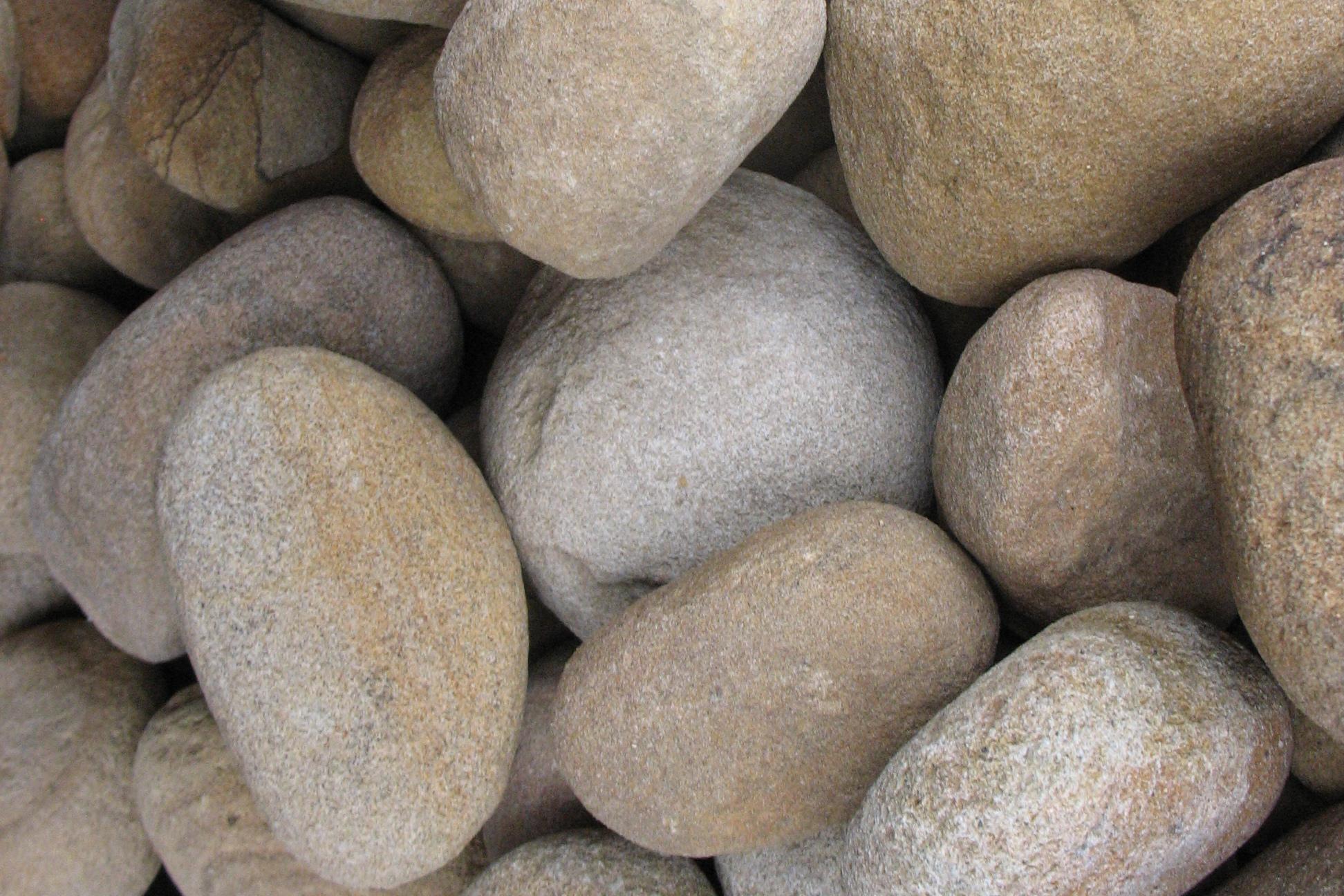 Булыжник речной Жёлтый круглый образцы камня