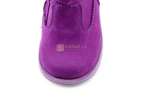 Полусапожки демисезонные Тотто из натуральной кожи на байке для девочек, цвет фиолетовый. Изображение 10 из 13.