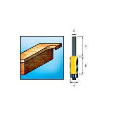 Фреза для окантовки с подшипником и тремя режущими кромками 12,7*38*50,8*12 мм