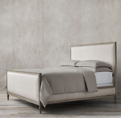 Maison Upholstered Panel Bed With Footboard
