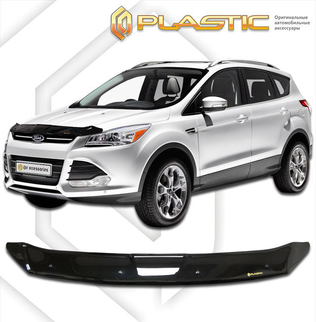 Дефлектор капота (Classic черный) Ford Kuga 2013 - for ford 2013 2014 year kuga escape led strip drl daytime running light