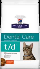 Ветеринарный корм для кошек для здоровья зубов Hill`s Prescription Diet t/d