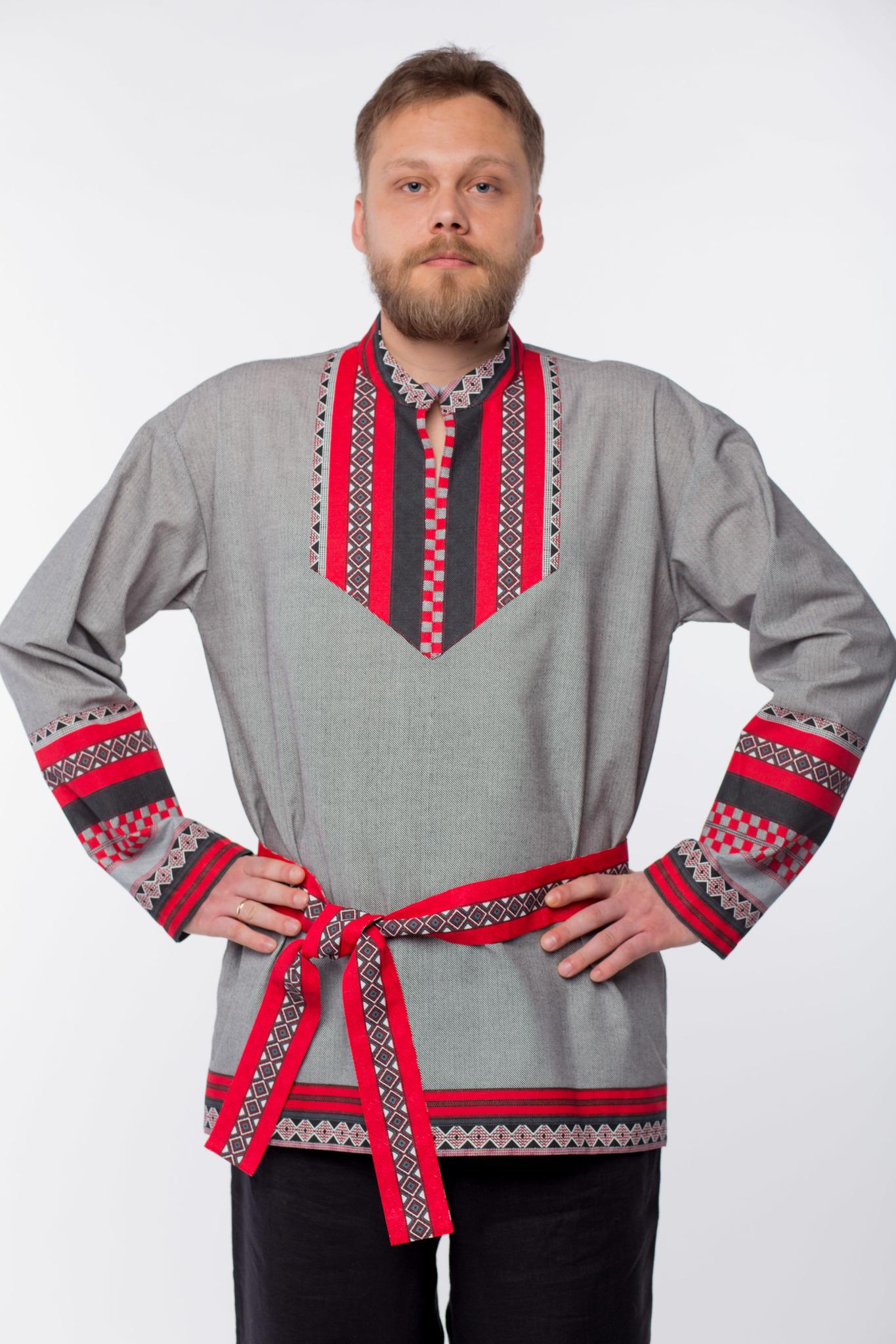Мужская рубаха Чалдоны приближенный фрагмент