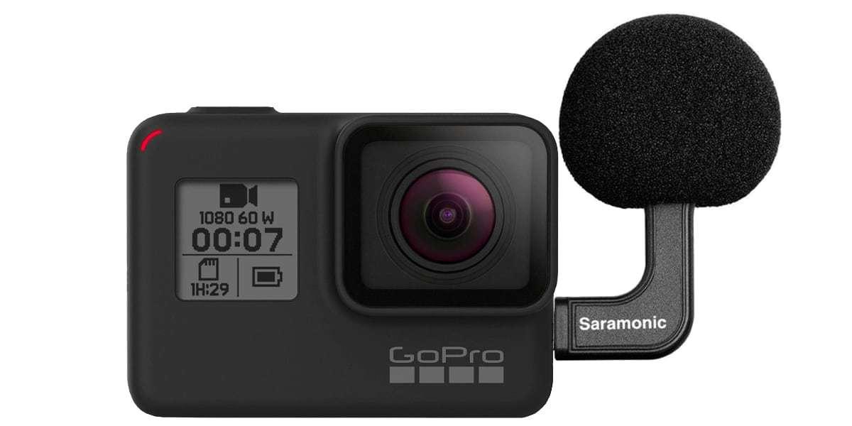 Стереомикрофон Saramonic G-Mic Kit для камер GoPro usb-c с камерой HERO7 Black