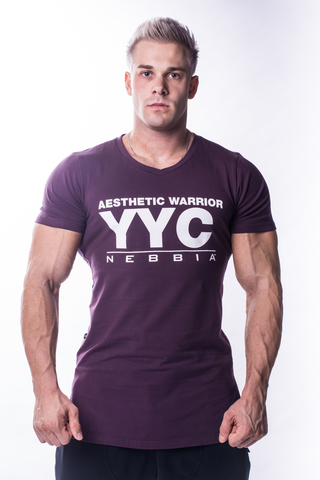 Мужская футболка Nebbia Athletic Logo T-Shirt 730 burgundy