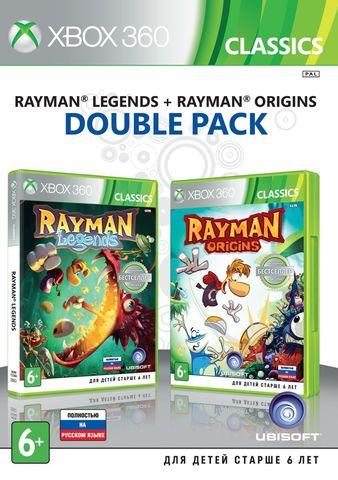 Xbox 360 Rayman Legends + Rayman Origins Комплект (русская версия)