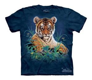 Футболка детская Mountain с изображением тигренка в траве - Tiger Cub in Grass