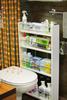 Полка выдвижная, для кухни и ванной комнаты (4-х этажная), белый