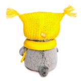 Кот Басик Baby в шапке-сова и шарфе