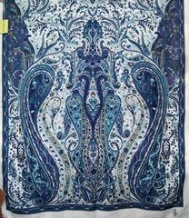 Шарф синих оттенков 4 в Русском стиле фото 2