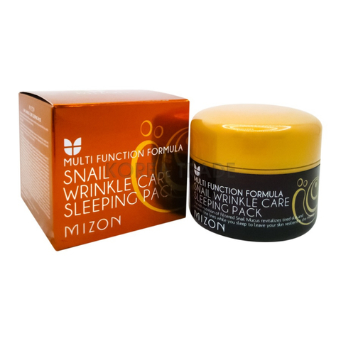 MIZON Ночная маска c экстрактом улитки Snail Wrinkle Care Sleeping Pack (80мл)