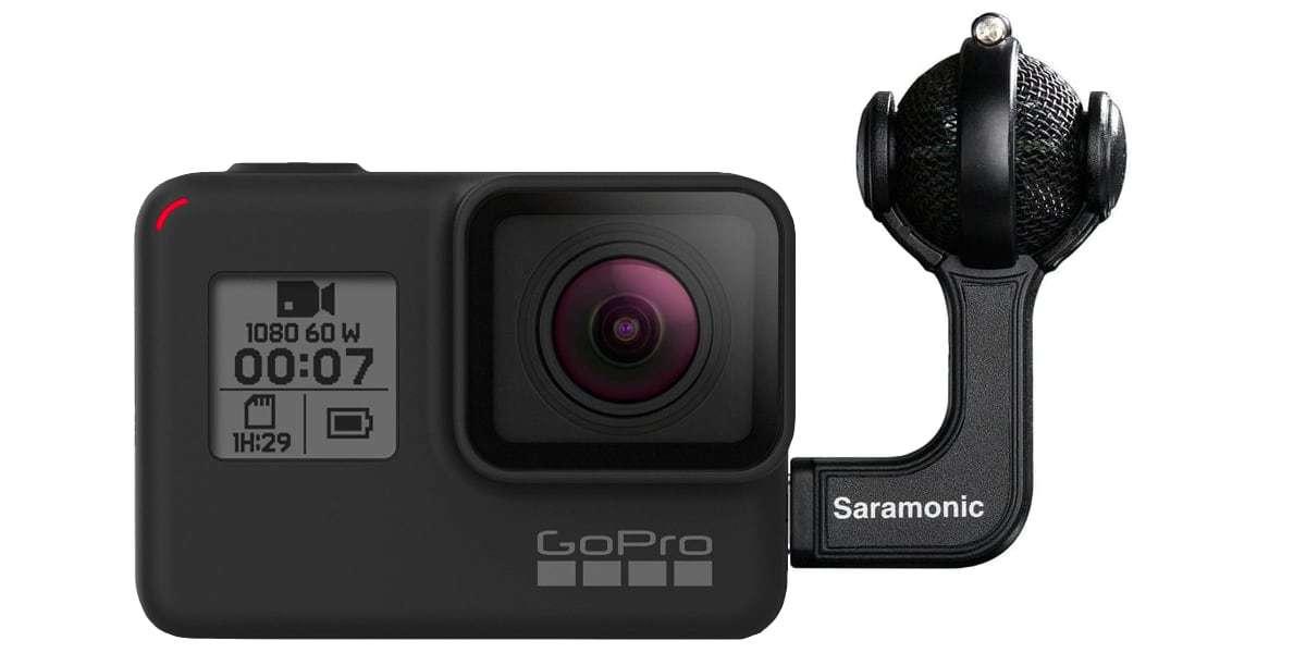 Стереомикрофон Saramonic G-Mic Kit usb-c с камерой HERO7 Black
