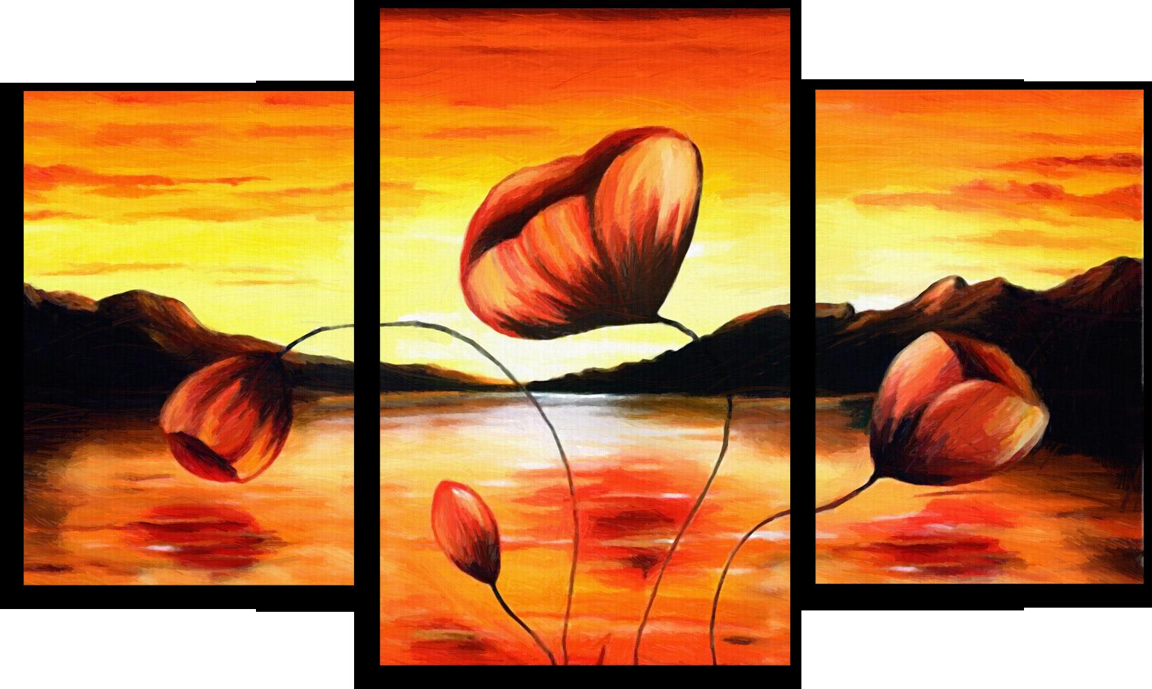 "Цветы Модульная картина ""Маки"" М364.png"