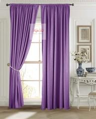 Длинные шторы. Луи (фиолетовый). Шторы из стриженного бархата.