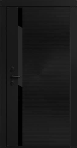Входная дверь «Flexo» в цвете, Графит черный (эмаль)