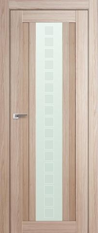 > Экошпон Profil Doors №16X-Модерн, стекло квадро, цвет капучино мелинга, остекленная