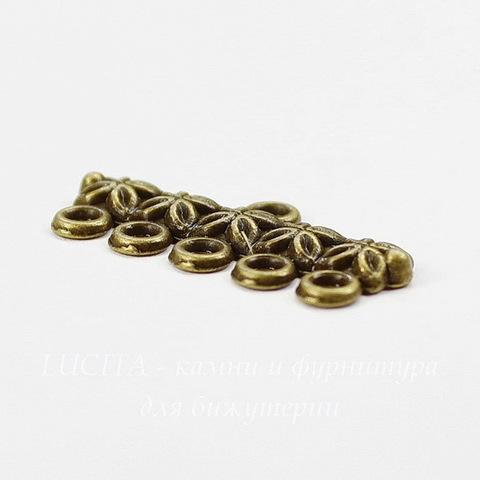 Коннектор (1-5) 25х12 мм (цвет - античная бронза)