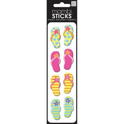 Стикеры обьемные - Puffy Stickers- Bright Flip-Flops