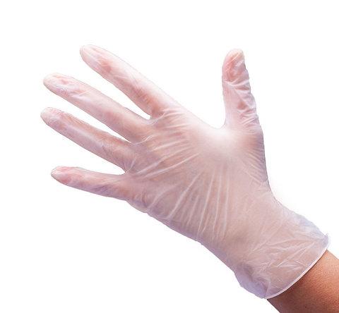 Перчатки виниловые неопудренные 100 шт