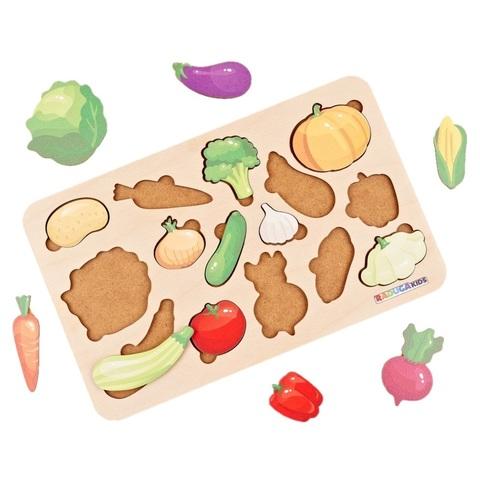 Рамка-Вкладыш Овощи, Raduga Kids, арт. RK1166