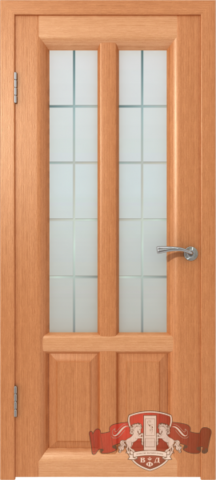 Дверь Владимирская фабрика дверей 12ДО6, цвет анегри, остекленная