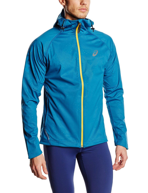 Мужская ветрозащитная куртка Asics FujiTrail SoftShell (124796 8123) синяя фото