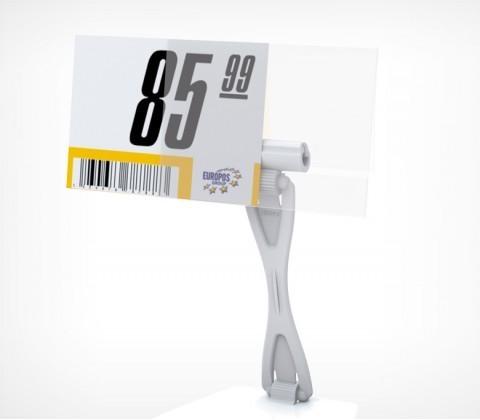 Ценникодержатель DELI-PRICER 80х60,  из ПВХ плоский, горизонтальный