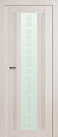 > Экошпон Profil Doors №16X-Модерн, стекло квадро, цвет эш вайт мелинга, остекленная