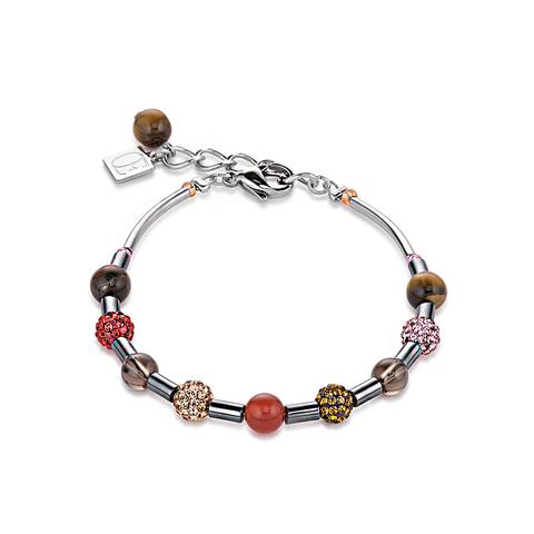 Браслет Coeur de Lion 4901/30-0311 цвет красный, розовый, коричневый, бежевый