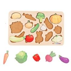 Вкладыши для детей от 1,5 лет Овощи, Raduga Kids, арт. RK1166
