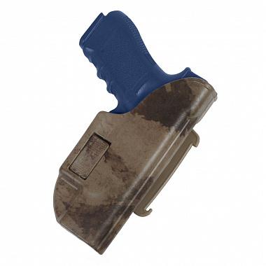 Кобура пластиковая для пистолета Глок 17 Альфа с поясным креплением Стич Профи