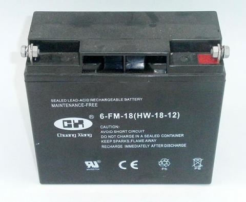 Аккумулятор DDE 12V /18Ah (17Ah) 6-FM-18 /17 (HW-18-12)  180x75x165 (+) справа для DPG10553E унив.
