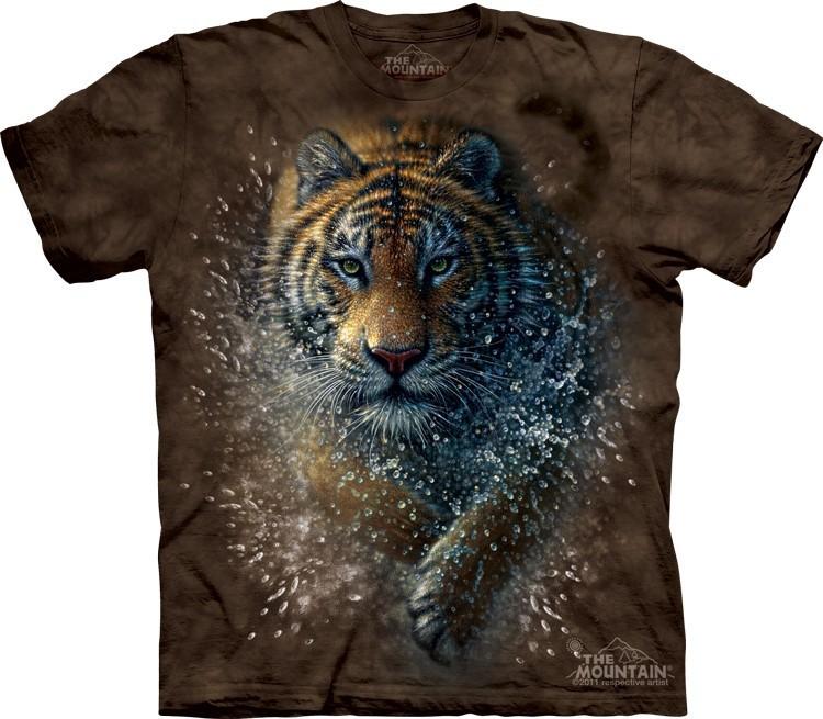 Футболка Mountain с изображением тигра в брызгах - Tiger Splash