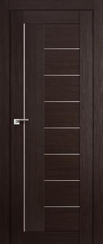 > Экошпон Profil Doors №17X-Модерн, стекло матовое, цвет венге мелинга, остекленная