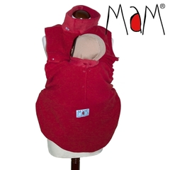 Флисовая слинговставка-накидка для мамы и малыша МаМ Сold Weather Insert, Красный (Autumn Leaf)