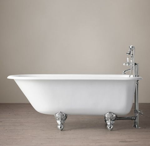 Classic Victorian Clawfoot Tub with Lever-Handle Tub Fill - Metal Feet