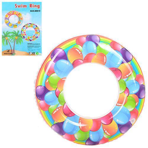 Детский надувной круг «Шарики» D25578, 80 см